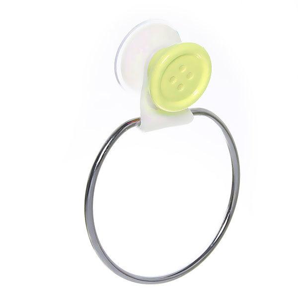 Держатель для полотенца на присоске, желтая пуговка 11*15 см купить оптом и в розницу