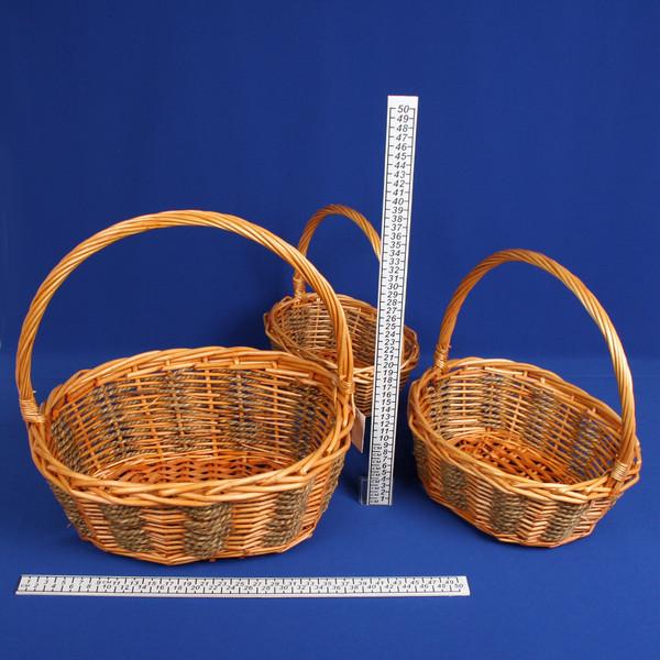 Корзина декоративная плетеная (3шт) 09-556 купить оптом и в розницу