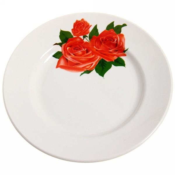 Тарелка керамическая 17,5 см ″Розы″ 1/12 СТМ 057 Д купить оптом и в розницу