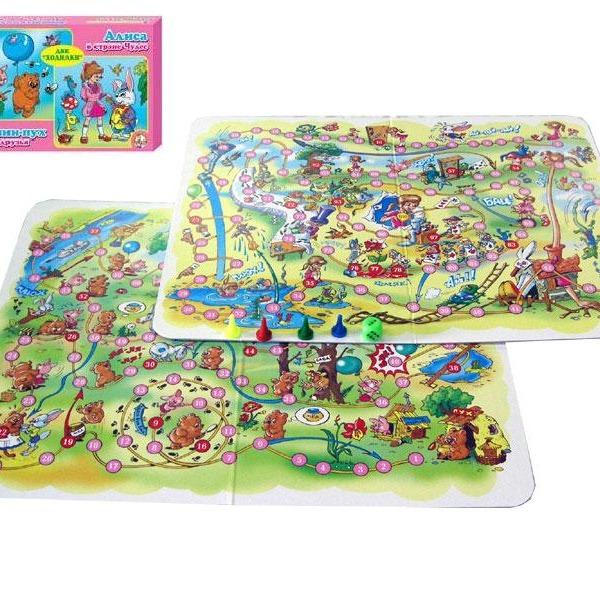 Игра ходилка Алиса в стране чудес 00287 купить оптом и в розницу