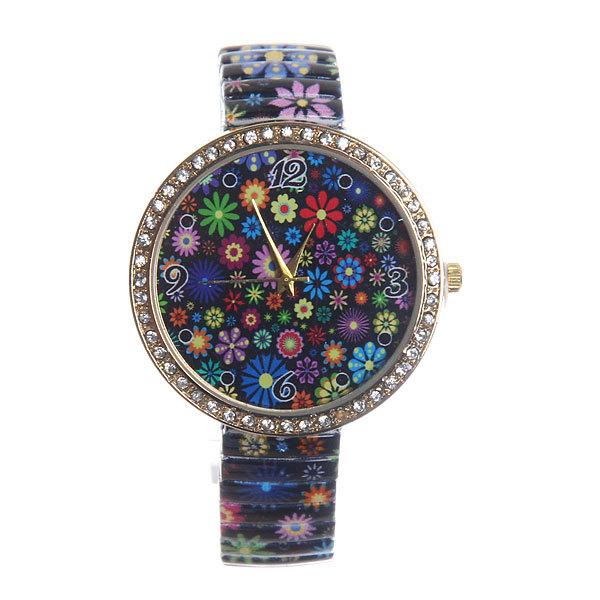Часы наручные на металлическом ремешке ″Цветочки″ 853-2 купить оптом и в розницу