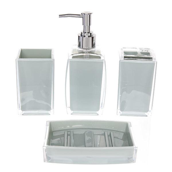 Набор для ванной из 4-х предметов 8011 синий купить оптом и в розницу