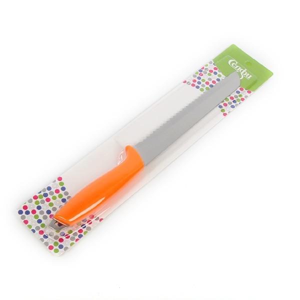 Нож кухонный 20см хлебный с пластиковой ручкой купить оптом и в розницу