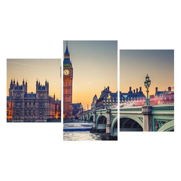 Картина модульная триптих 55*96 Город диз.2 34-01 купить оптом и в розницу