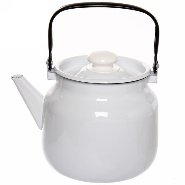 Чайник эмалированный 3,5л без декора купить оптом и в розницу
