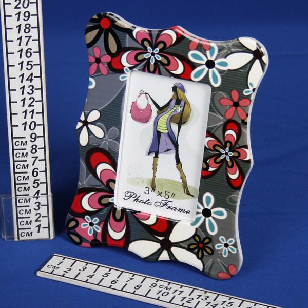 Фоторамка из керамики, цветы на сером фоне, 8*13 см купить оптом и в розницу