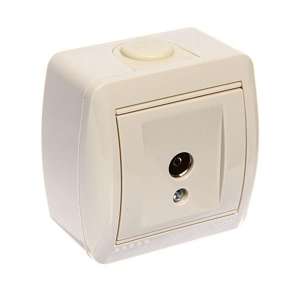 Розетка ТВ проходная NATA крем 710-0300-129 (Р) купить оптом и в розницу