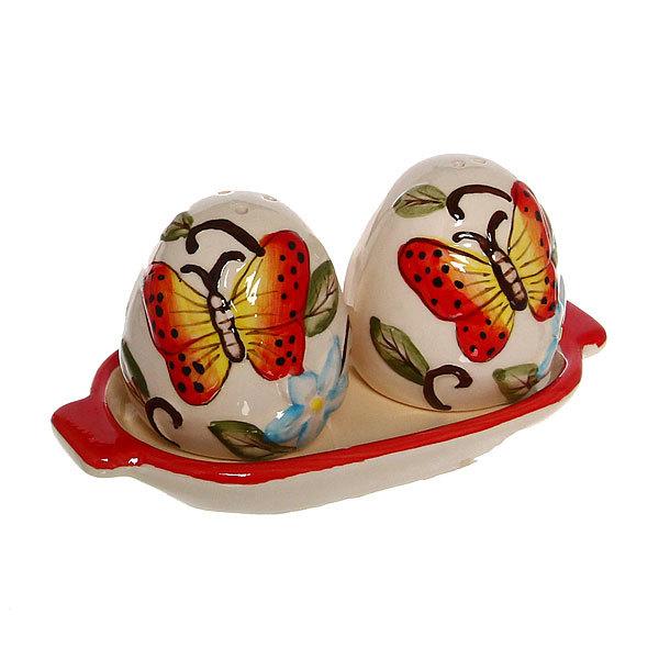 Набор для специй на подставке 2 шт ″Бабочки″ купить оптом и в розницу