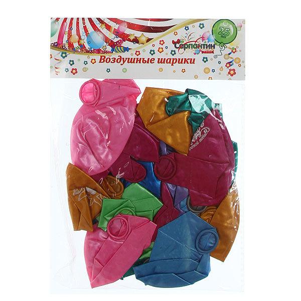 Воздушные шары 25шт, 12″30см, Крепкой любви металлик ассорти купить оптом и в розницу