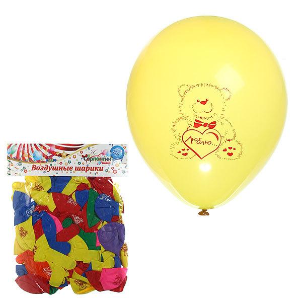 Воздушный шар 10″25см (набор 100штук) Мишка ассорти купить оптом и в розницу