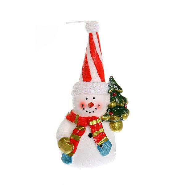 Свеча Новогодняя ″Веселый снеговичок″ 14*7 см купить оптом и в розницу