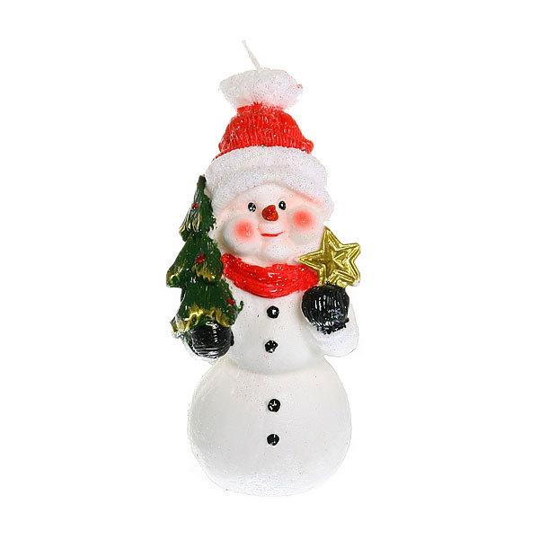 Свеча Новогодняя ″Снеговик с ёлкой″ 14*7,5 см купить оптом и в розницу