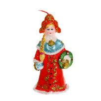 Свеча Новогодняя ″Снегурочка в красной шубе″ 11*5,5 см купить оптом и в розницу