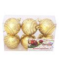 Новогодние шары ″Золотая снежинка″ 6см (набор 6шт.) купить оптом и в розницу