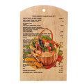 Доска разделочная сувенирная 18*30*0,8см ″Корзина овощей″ купить оптом и в розницу