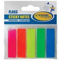 Закладки Expert 45*12  25л*5шт., пластик купить оптом и в розницу