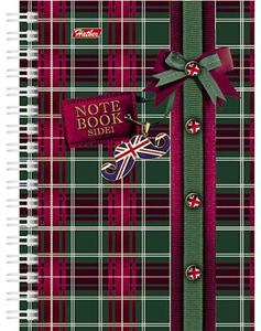 """Книжка записная А6, 80л, клетка, гребень, тв.обложка двойная, HATBER, """"Шотландка"""" купить оптом и в розницу"""