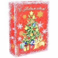 Пакет подарочный 32х43 см вертикальный ″С Новым годом!″, Белочка купить оптом и в розницу