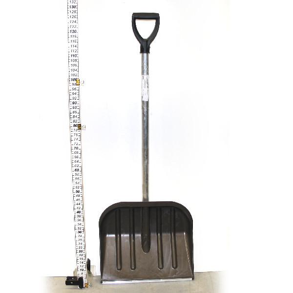 Лопата снеговая, пластиковая с алюминиевой планкой и черенком 41*37 см купить оптом и в розницу
