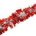 Мишура новогодняя 2 метра 10см ″Серебряный блеск″ красный, серебро купить оптом и в розницу