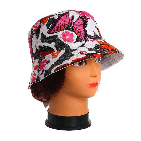 Панама женская плотная с прострочкой ″Бабочки″, цвет в ассортименте купить оптом и в розницу