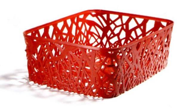 Корзинка прямоуг. NEO COLORS красный/*6 шт (37,7х29х12,7)см Curver купить оптом и в розницу