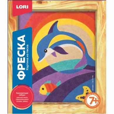 Набор ДТ Фреска Картина из песка Дельфин Кп-042 Lori купить оптом и в розницу