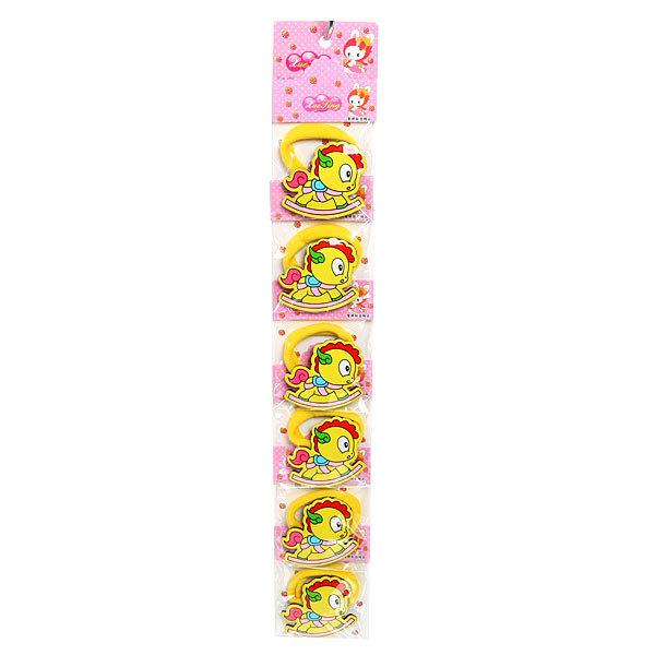 Резинки для волос на блистере 6шт ″Глянец - пони″, цвет микс купить оптом и в розницу