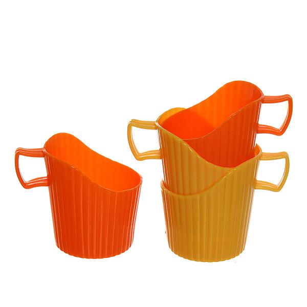 Набор подстаканников пластиковых 4шт (для одноразовых стаканов) mix купить оптом и в розницу