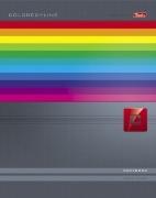 """Тетрадь 120л.кл.гребень HATBER, """"Colored_Line"""", тв.обложка купить оптом и в розницу"""