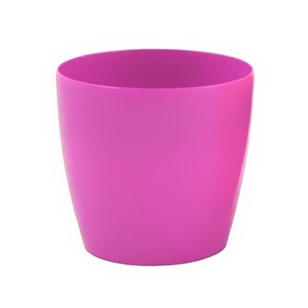 Кашпо пластиковое ″МАГНОЛИЯ″,цвет розовый D=21см H=18см купить оптом и в розницу