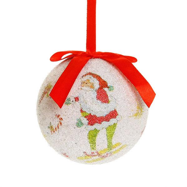 Новогодние шары ″Дед Мороз″ 8см (набор 4шт.) купить оптом и в розницу