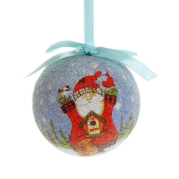 Новогодние шары ″Снеговичок с Дед Морозом″ 8см (набор 4шт.) купить оптом и в розницу