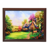 Картина пластик 45х55 ламинированная ″Домик в деревне″ FJ076 купить оптом и в розницу