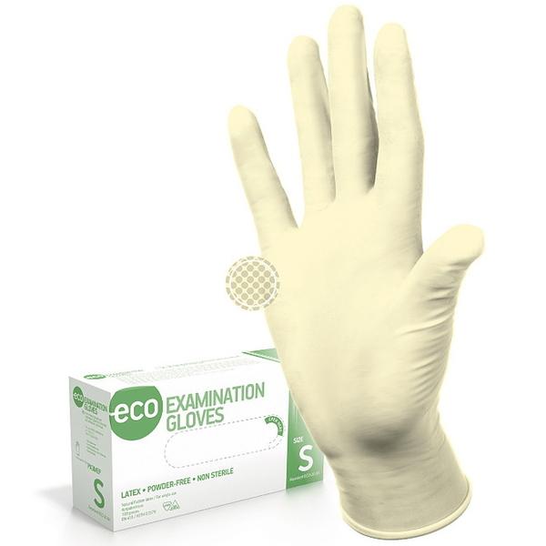 Перчатки ECO EG PF латексные нестерильные неопудреные 50 пар XS купить оптом и в розницу