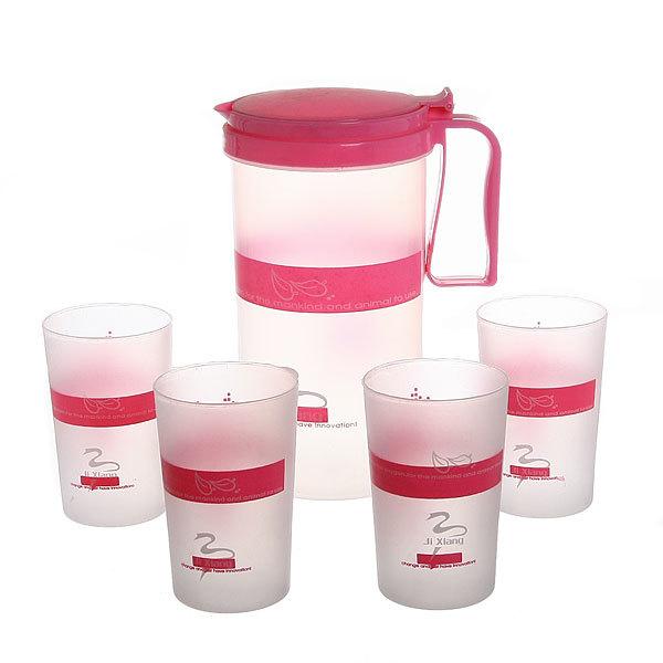 Набор питьевой 5 предметов: кувшин 1,5 л, 4 стакана купить оптом и в розницу