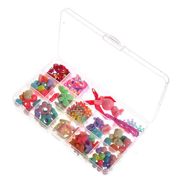Набор для плетения из бусин в коробке 17*9,5см 13отделений купить оптом и в розницу