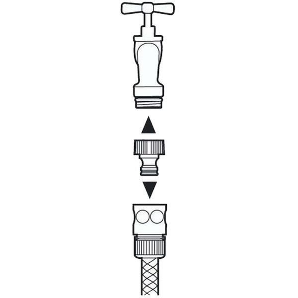 Штуцер резьбовой 3/4″ GARDENA 02901-29.000.00 купить оптом и в розницу