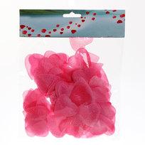 Лепестки роз сердечки розовые 150 шт в упаковке 4*4 купить оптом и в розницу
