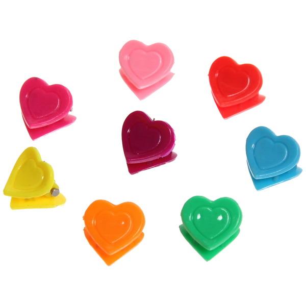 Заколка-краб для волос в пакете 100шт ″Сердечки″, цвет микс, l-1см купить оптом и в розницу