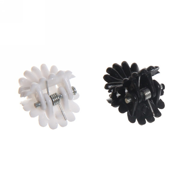 Заколка краб для волос 100шт ромашки l-1см 385-6 купить оптом и в розницу