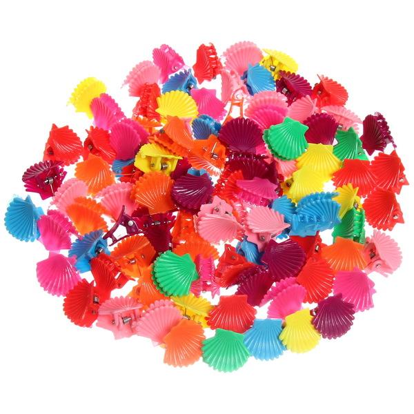 Заколка-краб для волос в пакете 100шт ″Ракушки″, цвет микс, l-2см купить оптом и в розницу