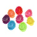 Заколка краб для волос 100шт глянцевые ромашки l-2см 385-12 купить оптом и в розницу