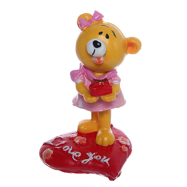 Фигурка из полистоуна ″Медвежонок с подарком″ 10см 1049В купить оптом и в розницу
