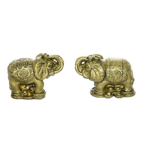 Оберег Стабильности ″Слон богаства″ набор 2шт 3,5*5,5см 7708-16 купить оптом и в розницу