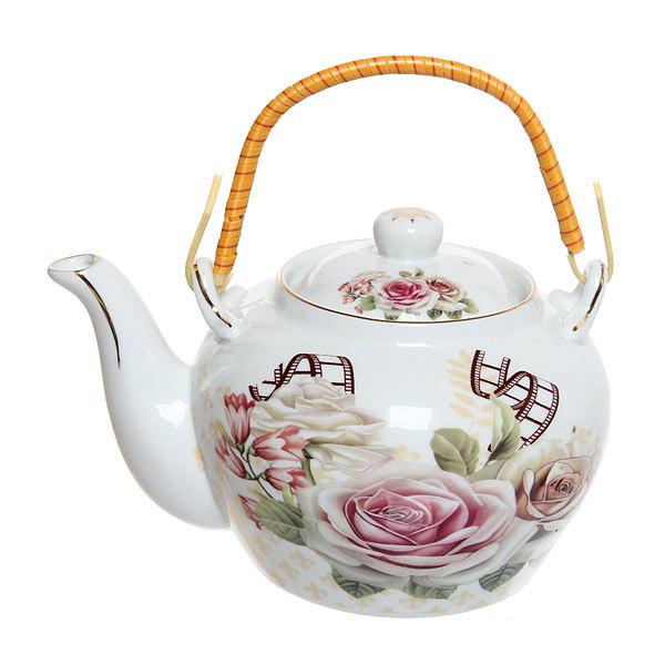 Чайник заварочный керамический 700 мл ″Роза″ купить оптом и в розницу