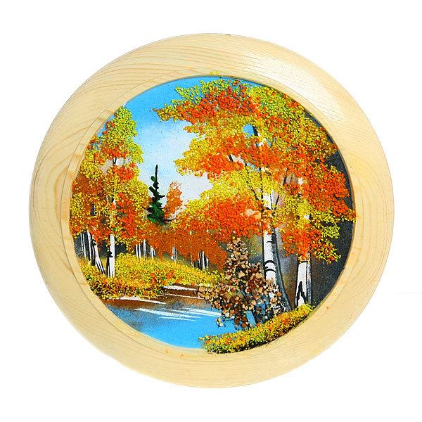 Панно из натурального камня ″Осенний лес″ 24,5 см купить оптом и в розницу