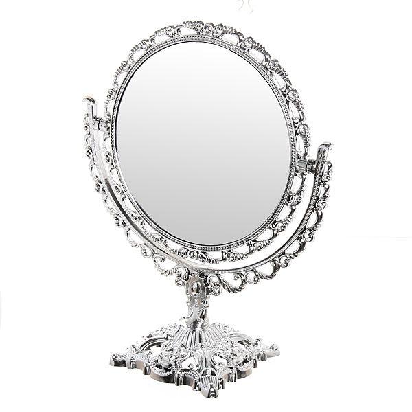 Зеркало настольное ″Версаль″ Круг 27см 439-5 серебро купить оптом и в розницу