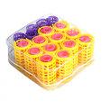 Бигуди пластмассовые с зажимом в косметичке 29шт 442-1 купить оптом и в розницу