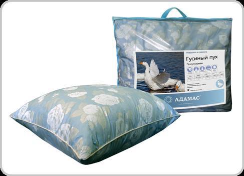 Подушка 40х60 полупуховая/тик сумка Адамас купить оптом и в розницу